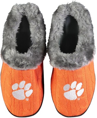 Women's Clemson Tigers Cable Knit Slide Slippers