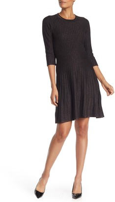 Nanette Nanette Lepore Pleated Fit & Flare Sweater Dress
