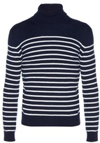 Saint Laurent Striped Roll-neck Cashmere Sweater