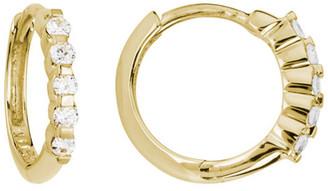 Diamond Select Cuts 14K 0.15 Ct. Tw. Diamond Hoops