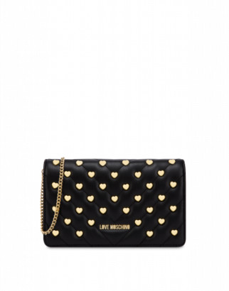 Love Moschino Evening Bag With Heart Studs Woman Black Size U It - (one Size Us)