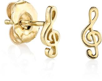 Sydney Evan Girls' Treble Clef Stud Earrings