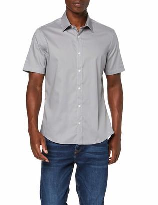 Find. Amazon Brand Men's Smart Cotton Short Sleeve Dress Shirt