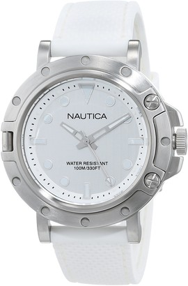 Nautica Women's Quartz Watch with Stainless Steel Strap Grey 20 (Model: NAD12548G)