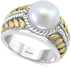 Effy Cultured Freshwater Pearl (10mm) Two-Tone Statement Ring