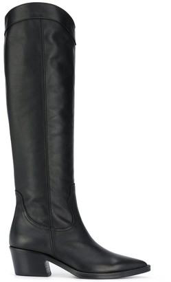 Paul Warmer Pointed-Toe Knee-Length Boots