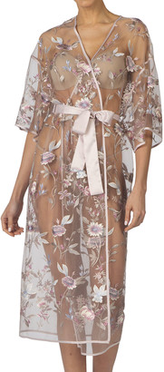 Rya Collection Stunning Floral Embroidered Sheer Robe