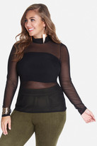 Fashion to Figure Jessa Mesh Mock Top