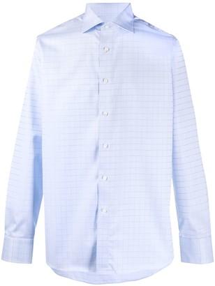 Canali Check-Print Cotton Shirt