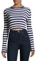 Caara Perry Striped Crop Shirtdress