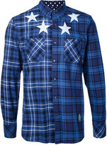 GUILD PRIME stars print checked shirt - men - Cotton - 2