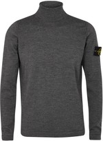 Stone Island Grey Roll-neck Wool Jumper