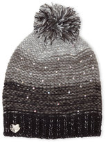 Betsey Johnson Crystal Knit Pom-Pom Beanie