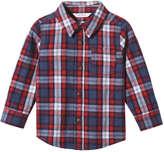 Joe Fresh Baby Boys' Flannel Shirt, Denim Blue (Size 12-18)