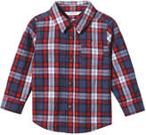 Joe Fresh Baby Boys' Flannel Shirt, Denim Blue (Size 6-12)