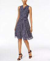 Jessica Howard Petite Printed Sash A-Line Dress