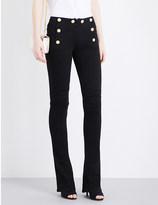 Balmain Button-detail kick-flare mid-rise jeans