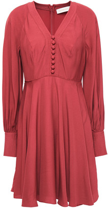 Zimmermann Gathered Crepe Mini Dress