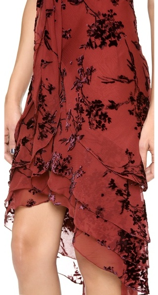 Zac Posen Silk Short Sleeve Dress