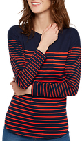 Joules Sophia Curved Hem Stripe Top