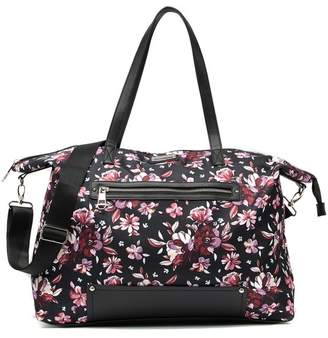 Madden-Girl Floral Nylon Weekend Bag