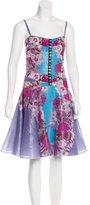 Versace Floral Print Swing Dress w/ Tags