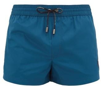 Dolce & Gabbana Logo-embroidered High-cut Swim Shorts - Blue