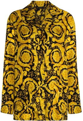 Versace Baroque-print pajama shirt