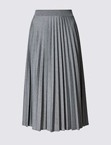 Marks and Spencer Pleated A-Line Midi Skirt