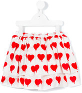 Caroline Bosmans - heart print skirt - kids - Silk/Cotton - 2 yrs