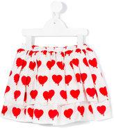 Caroline Bosmans - heart print skirt - kids - Silk/Cotton - 4 yrs