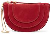 Diane von Furstenberg Leather-Trimmed Nubuck Clutch