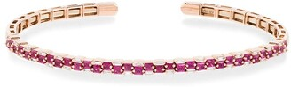 Suzanne Kalan 18kt Rose Gold Baguette Ruby And Diamond Bracelet