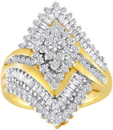 JCPenney FINE JEWELRY 1 CT. T.W. Diamond 10K Yellow Gold Marquise-Shaped Cocktail Ring