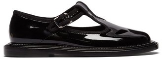 Burberry Patent-leather Dolly Loafers - Womens - Black