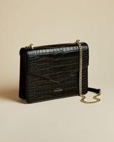 Ted Baker Leather Croc Print Envelope Bag