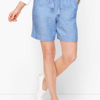"Talbots Linen Shorts - 6"" - Cross-Dyed"