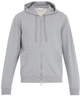 Sunspel Hooded zip-through cotton sweatshirt