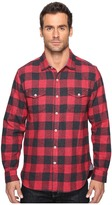 True Grit Vintage Melange Buffalo Check Long Sleeve Two-Pocket Shirt