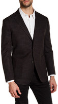 Zanetti Brown Windowpane Two Button Notch Lapel Wool Modern Fit Sport Coat