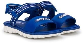 Dolce & Gabbana Kids Logo Touch Strap Sandals