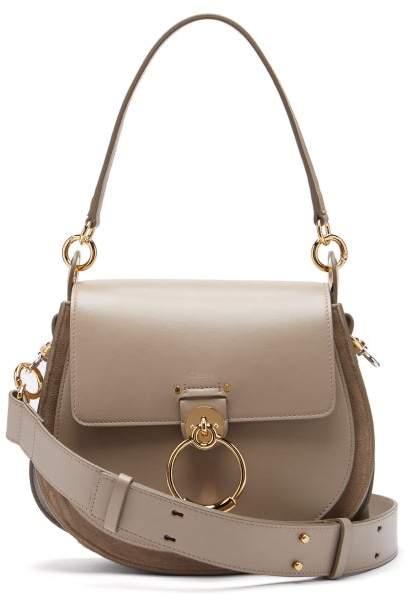 6d028a1e Tess Large Leather Cross Body Bag - Womens - Grey