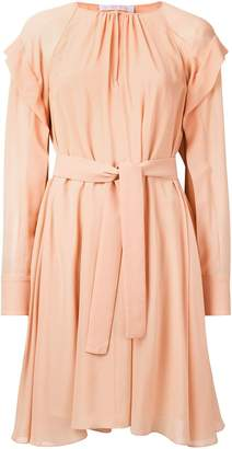 Chloé belted long-sleeve dress