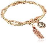 "BCBGeneration Gold-Tone and Rose Gold-Tone Nugget Bracelet, 7"""