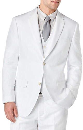 Perry Ellis Big and Tall Linen-Cotton Solid Jacket