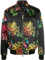 DSQUARED2 Floral Print Collared Jacket