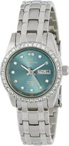 Sartego Women's SSGN73 Metallic Green-Face Dial Stainless Steel Watch