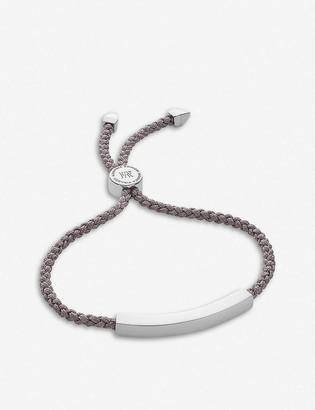 Monica Vinader Linear sterling silver friendship bracelet