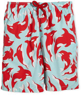 Vilebrequin Galak Orca-Print Swim Trunks, Size 10-14