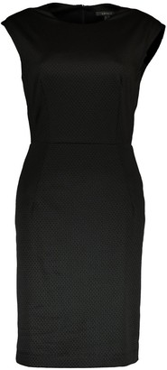 Esprit Textured Fitted Sleeveless Dress with Short Sleeves